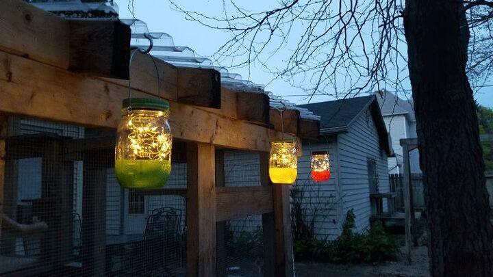 RAINBOW MASON JAR SOLAR PORCH LIGHTS