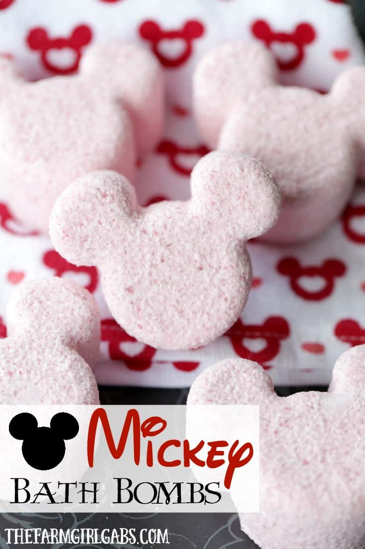 These Mickey Mouse Bath Bombs are the perfect way to relax, unwind and think about your next trip to Walt Disney World.
