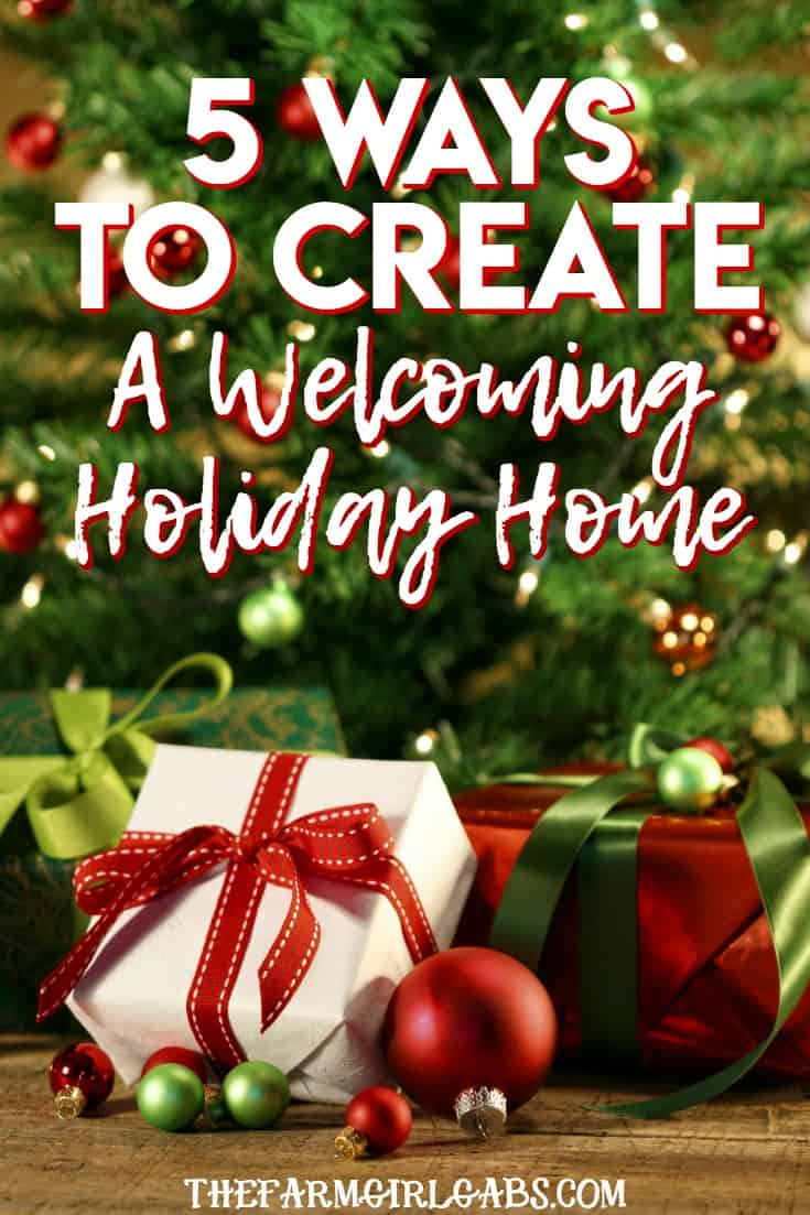 The holiday preparation is in full swing. Here are 5 Ways To Create A Welcoming Holiday Home! #PURELLSurface #IC #Ad #DisinfectWorryFree #Christmas #HomeDecor