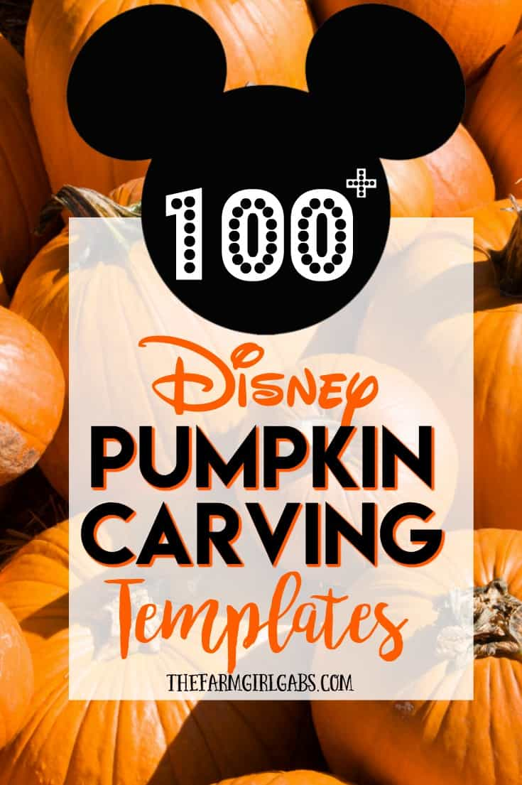 Ready for a fun Halloween craft idea? Carve up some Disney magic this Halloween with these 100+ FREE Disney Pumpkin Carving Ideas. These free Disney pumpkin carving patterns will satisfy the Disney fan in all of us. Just copy and download one or more of these Disney pumpkin carving templates and start carving those pumpkins. #pumpkincarving #disneycraft #disneyhalloween