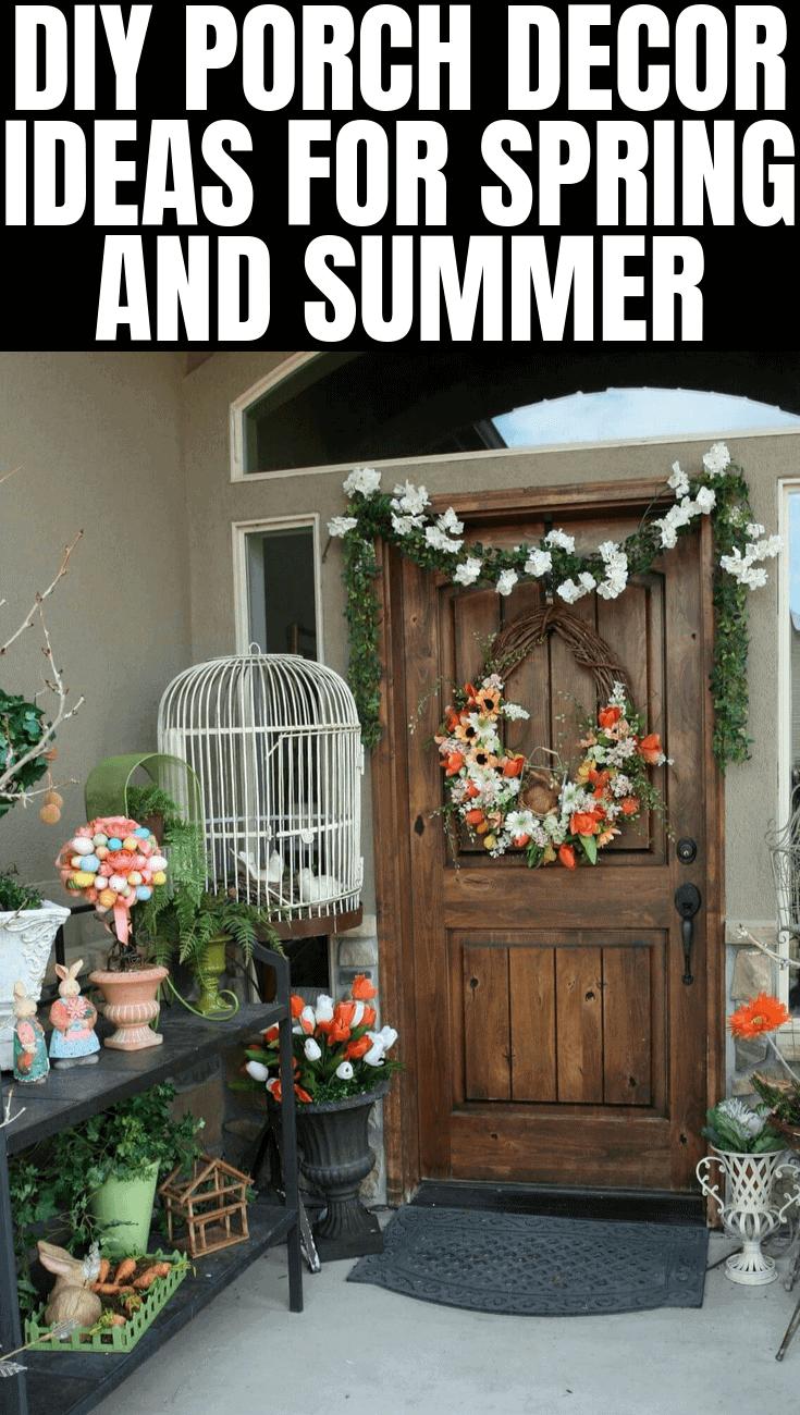 DIY PORCH DECOR IDEAS FOR SPRING AND SUMMER