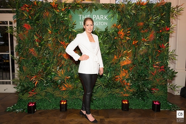 Danielle Sweeney Events provided the stunning backdrop for the launch party with a personalised flower wall.