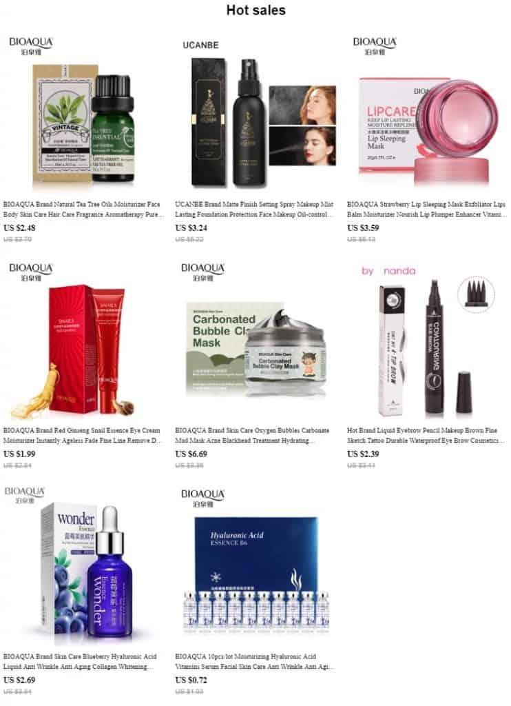 AliExpress Beauty Product Skincare Trusted Cheap Wholesale Price Safe Serum Handcream China Cosmetics BioAqua