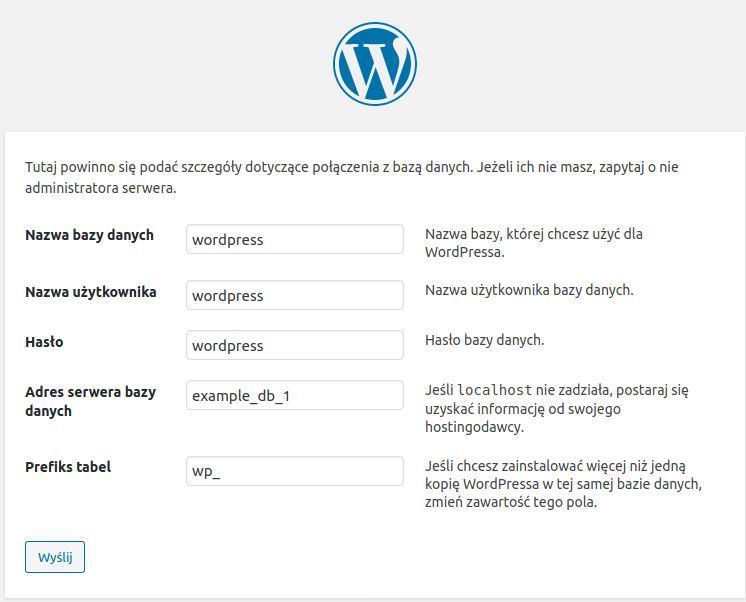 dane-konfiguracji-wordpress