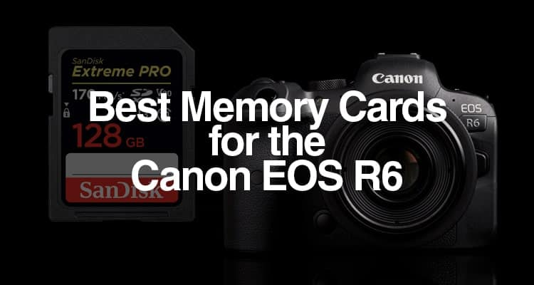 Best Memory Cards for the Canon EOS R6