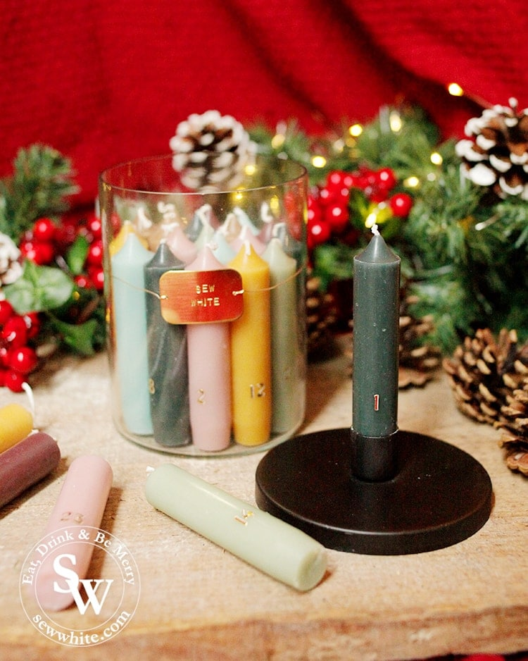 Personalised candle set from forest and co in the top 5 advent calendars for Christmas
