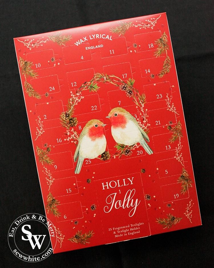 Wax lyrical robin candle advent calendar in the top 5 advent calendars for Christmas