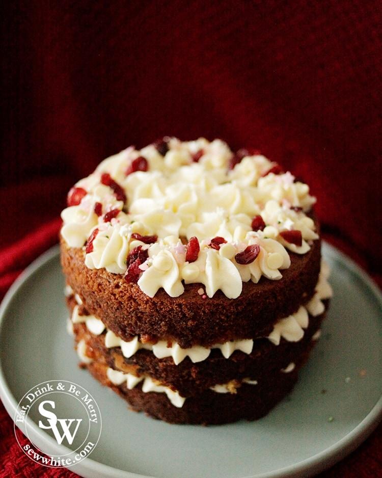 Easy white chocolate cranberry cake