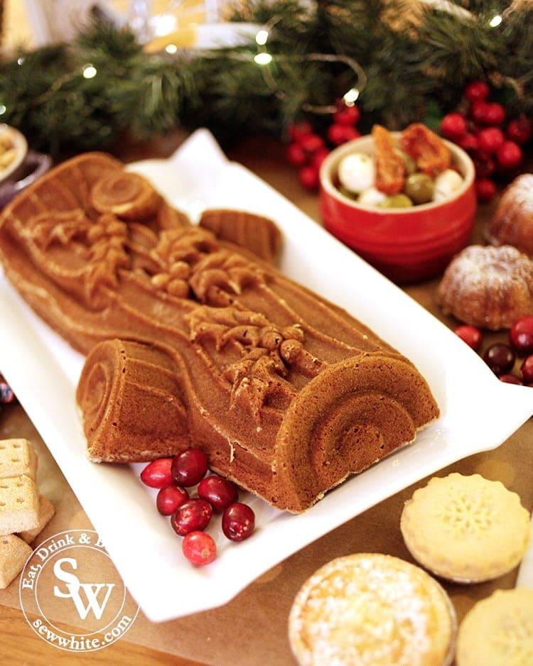 Christmas cake yule log from Nordicware