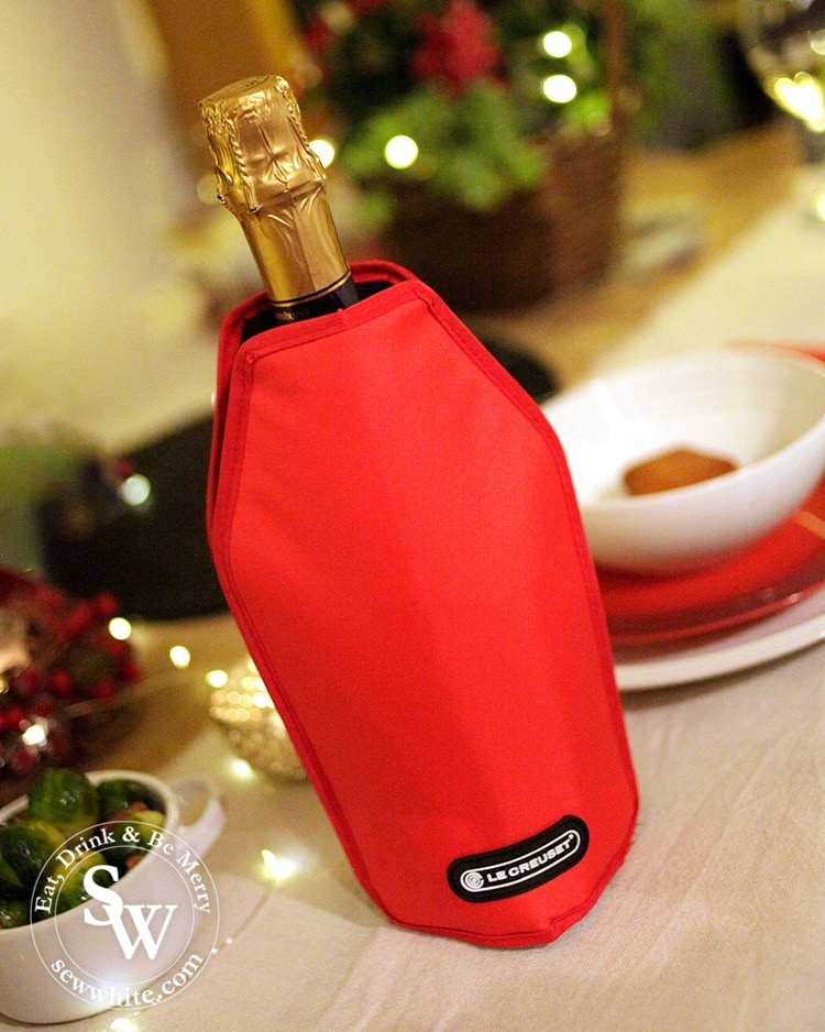 Champagne ready in it's Le Creuset coolbag.