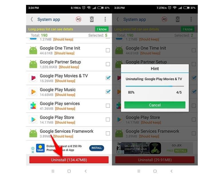 3 Cara Menghapus Aplikasi Bawaan Xiaomi, Samsung, Oppo, Vivo Atau Asus 4