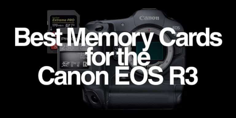 best memory cards for the canon eos r3