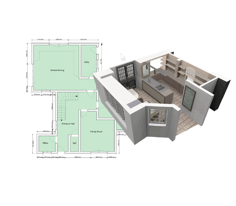 Buy Home Designer Software Easy To Use 2d And 3d Floorplanner Cad Cabin 3d House Design Software