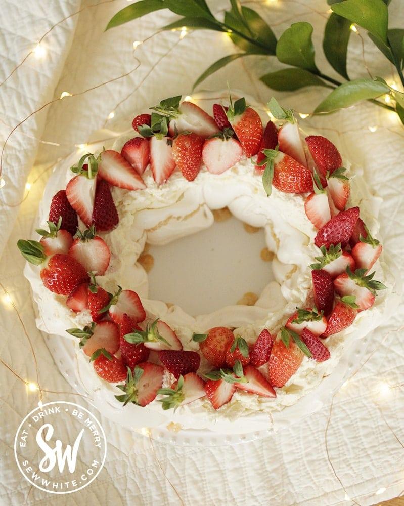 fresh Strawberry Passionfruit Pavlova
