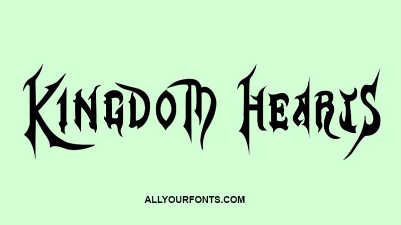 Kingdom Hearts Font Download - All Your Fonts