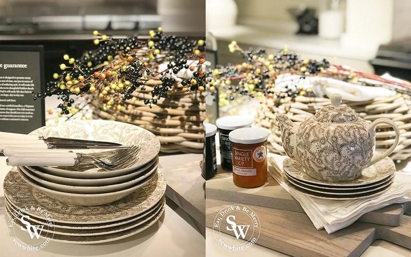 Olney walnut dinnerware