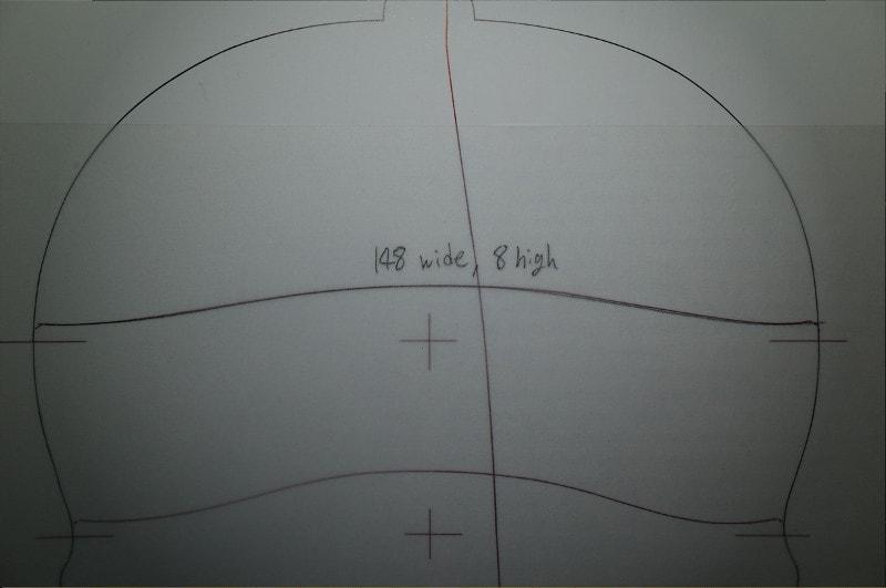グァルネリのオリジナルアーチとサイクロイド曲線