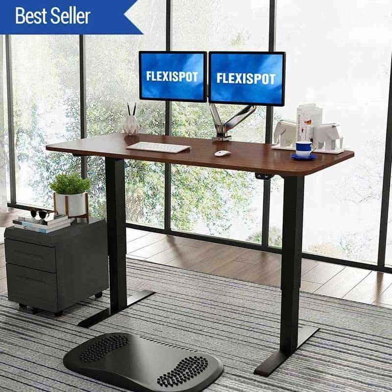FlexiSpot Electric Height Adjustable Dual Monitor Desk