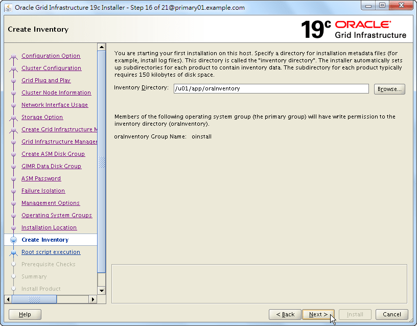 Oracle 19c Grid Infrastructure Installation - 16