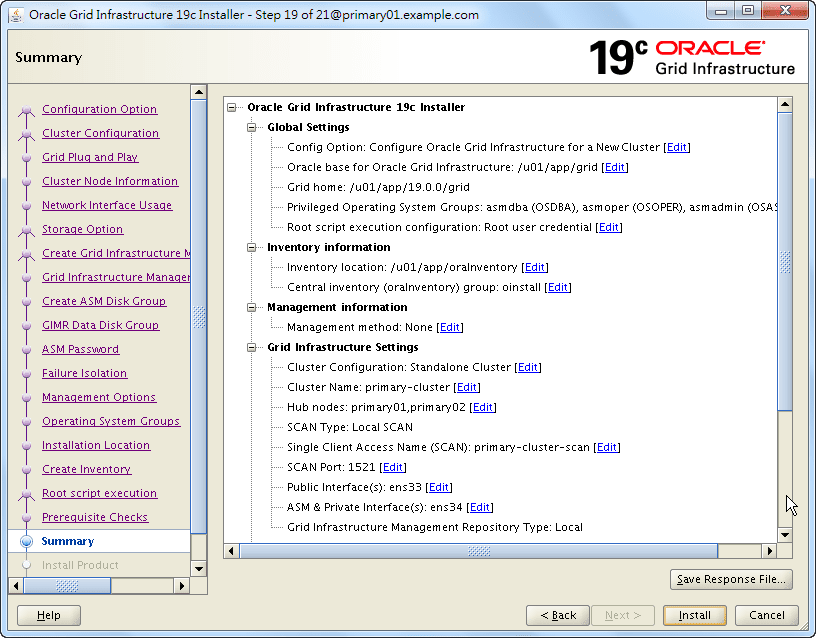 Oracle 19c Grid Infrastructure Installation - 19 - 02