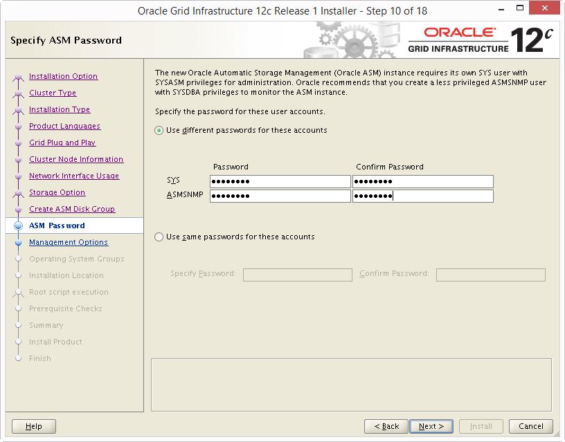Install Oracle 12c Grid Infrastructure 10
