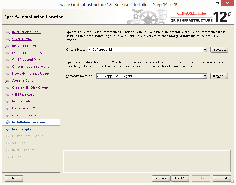 Install Oracle 12c Grid Infrastructure 14