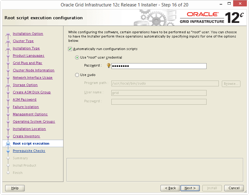 Install Oracle 12c Grid Infrastructure 16