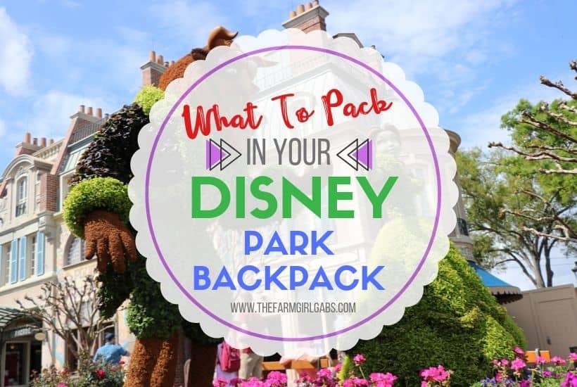 Pack the Perfect Walt Disney World Backpack