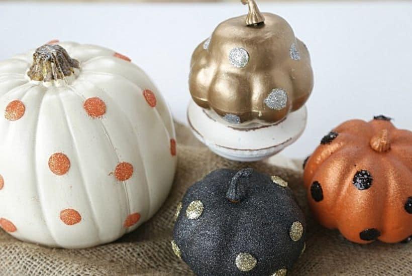 DIY Glitter Glam Pumpkins