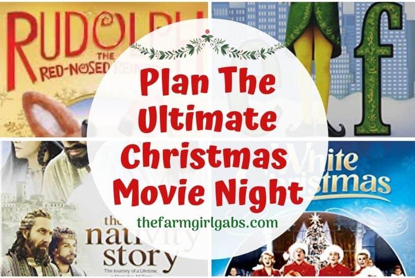 Plan An Ultimate Christmas Movie Night {With Free Printables)