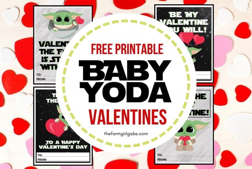 Free Printable Mandalorian Baby Yoda Valentines