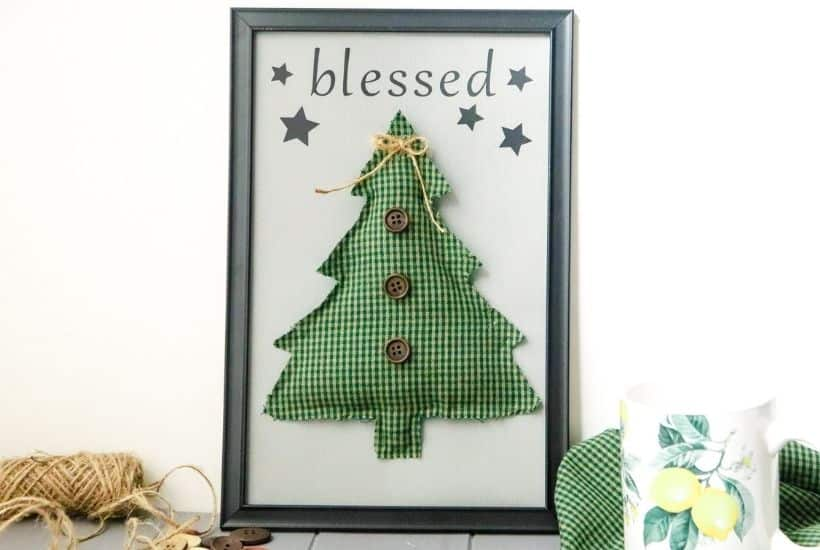Blessed Christmas Tree Sign