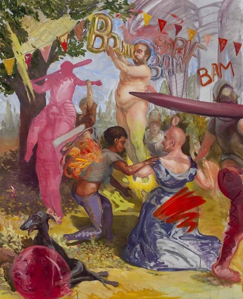 Enzo Certa - Forçar o vício Artes & contextos Le fond des squares – huile sur toile – 2020 – 100 x 81cm