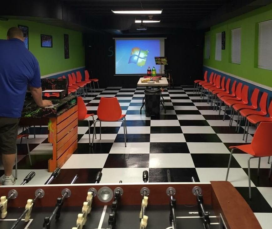 Photos of checkerboard pattern floor tile