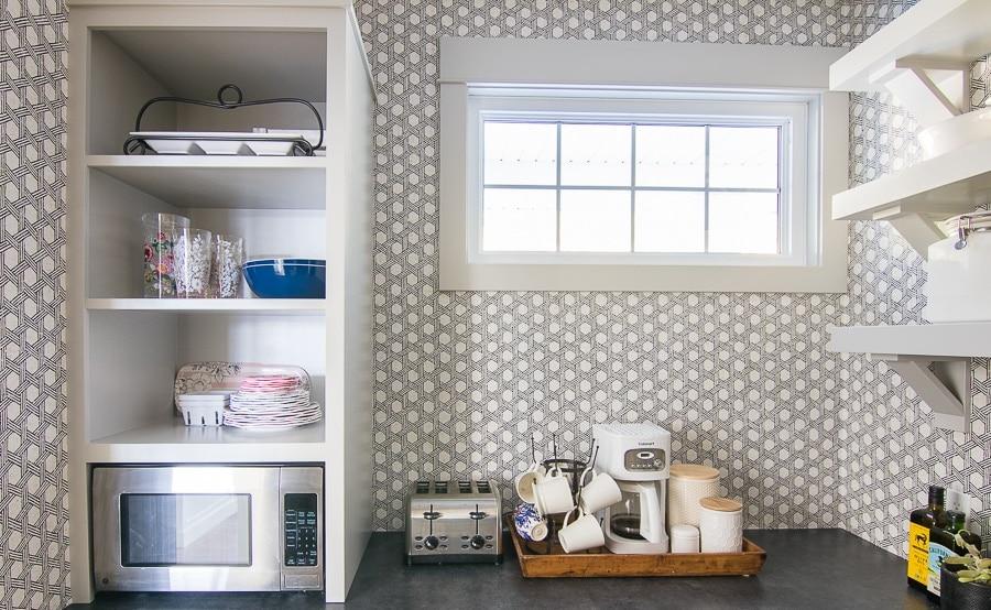 butler's pantry wallpaper