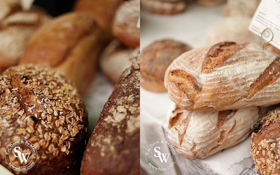 Freshly baked bread from the Celtic bakery.