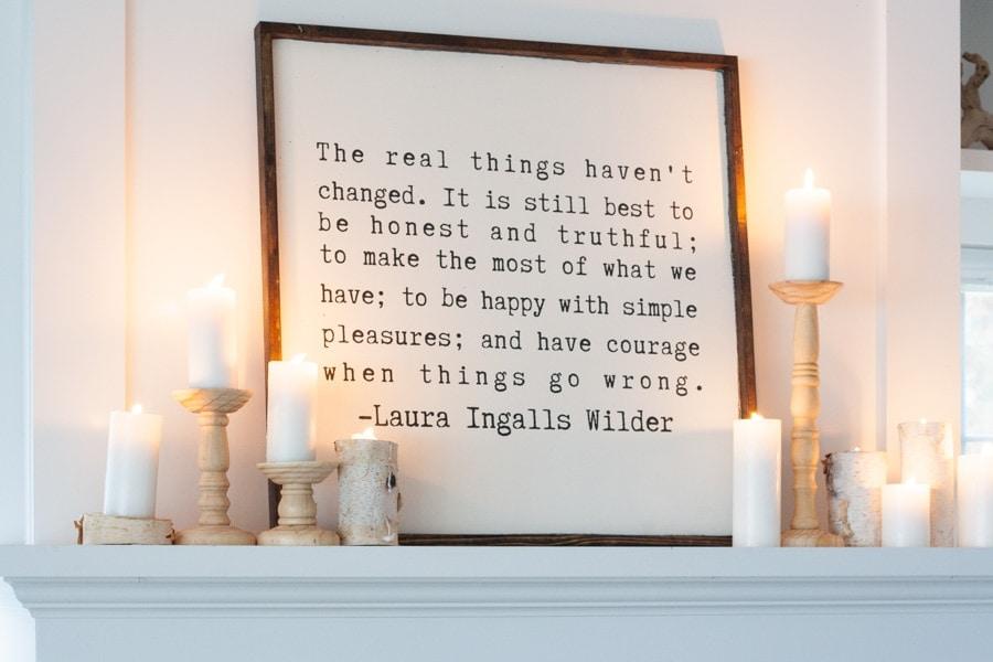 Laura Ingalls WIlder quote