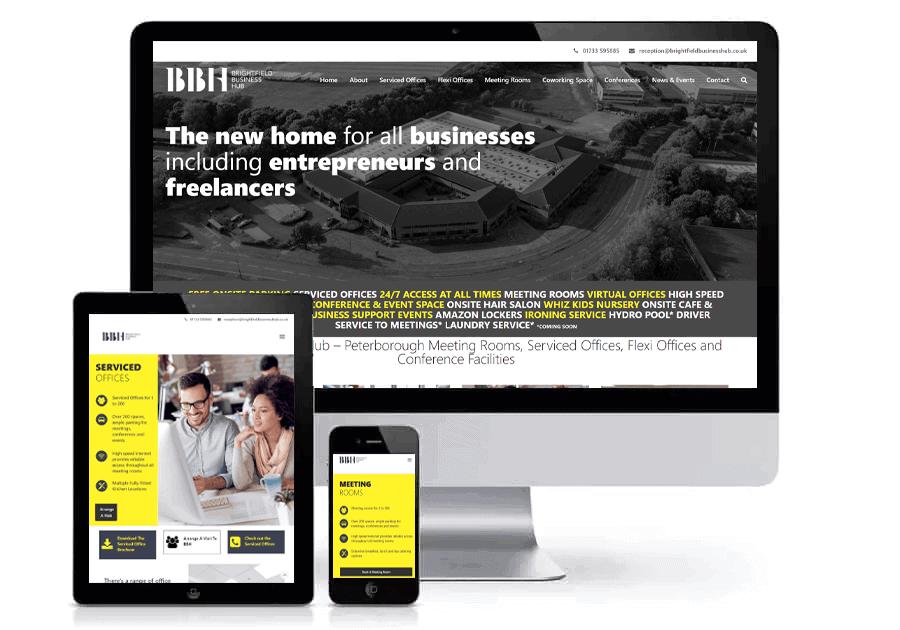 Brightfield Business Hub Website Design Blue Dolphin
