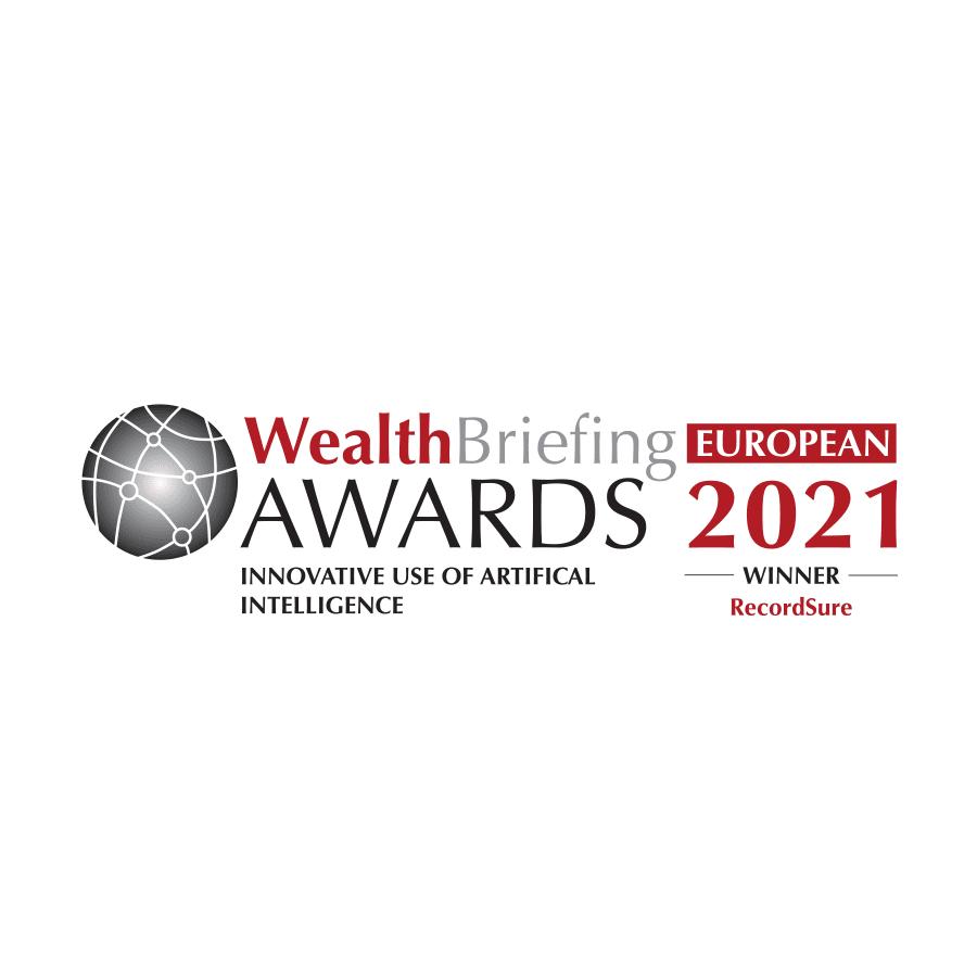 Recordsure AI Winner WealthBriefing Awards 2021