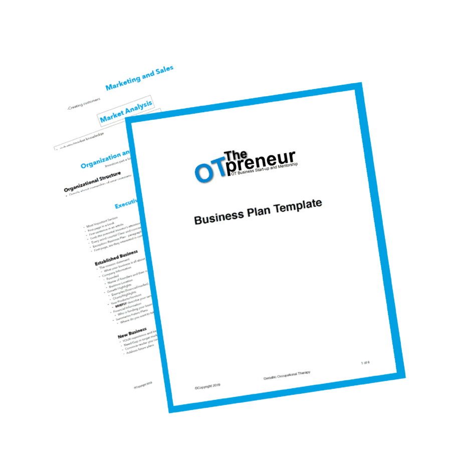 Business Plan Template Guide The OTpreneur - Thumbnail