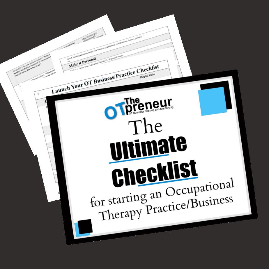 The Ultimate Checklist for starting an OT Business- The OTpreneur - Thumbnail