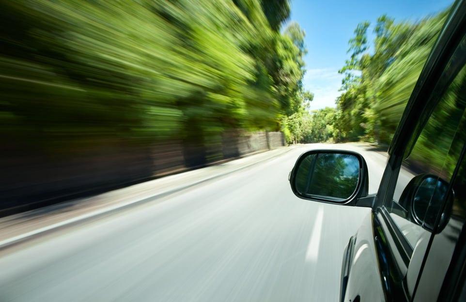 Rijden in auto