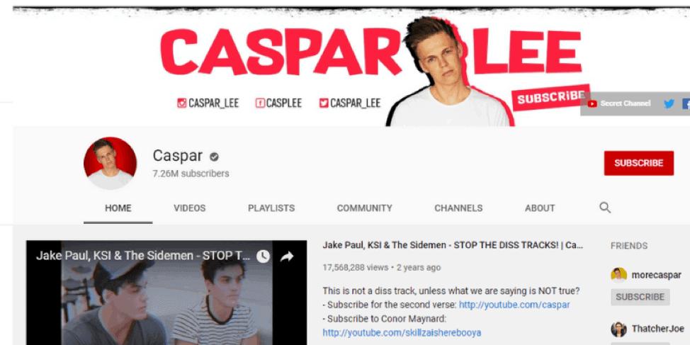 Casparlee-Youtube