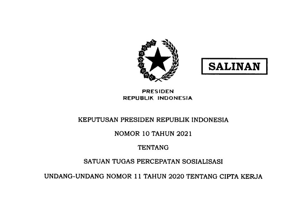 KEPPRES 10 2021