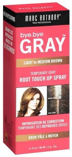 Dye hair roots - Marc Anthony True Professional Bye.Bye Gray Temporary Gray Root Touch Up Spray | 40plusstyle.com