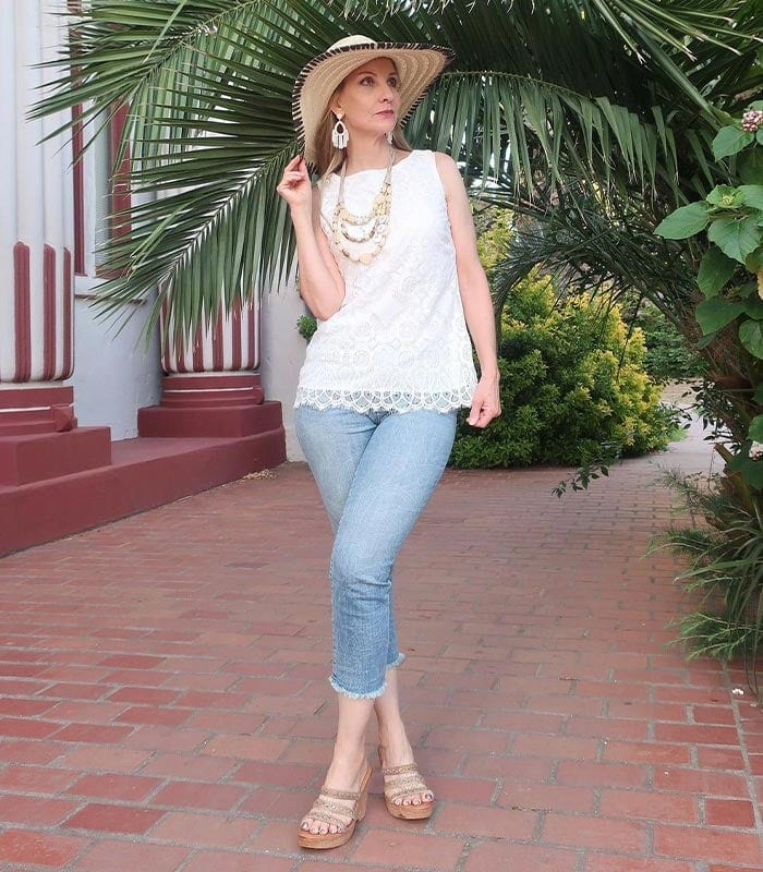 How to wear capris or cropped pants   40plusstyle.com