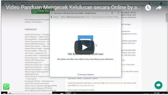 Video Panduan Mengecek Kelulusan Online di Komputer