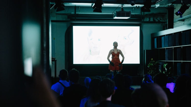 Chagall performing at The Creative Code Launch event
