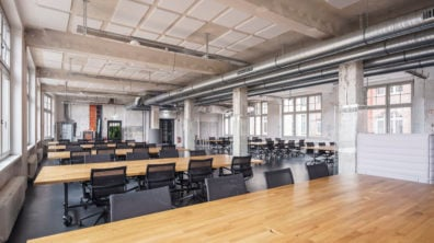 A photo of the shared startup lab space Startup Lab 2.1, for startup teams in Görlitzer Park.