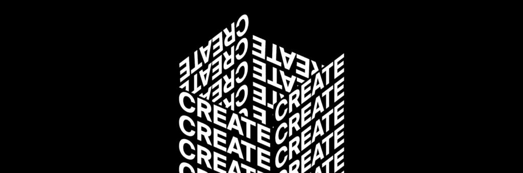 Create header kinetic typography.